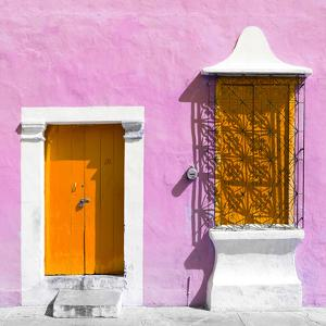 """¡Viva Mexico! Square Collection - """"172 Street"""" Orange & Violet by Philippe Hugonnard"""