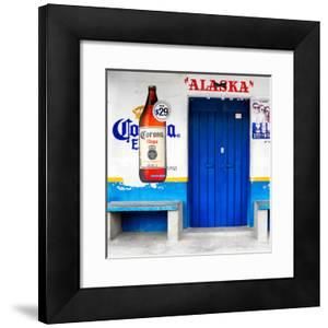 """¡Viva Mexico! Square Collection - """"ALASKA"""" Blue Bar by Philippe Hugonnard"""