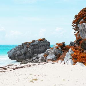 ¡Viva Mexico! Square Collection - Caribbean Coastline in Tulum III by Philippe Hugonnard