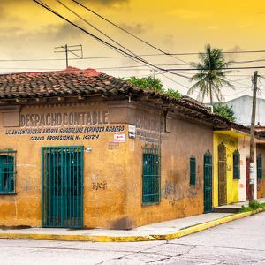 ¡Viva Mexico! Square Collection - Colorful Mexican Street at Sunset by Philippe Hugonnard