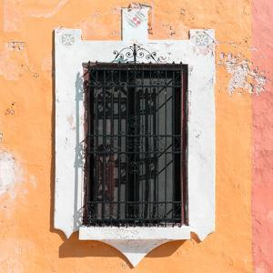 ¡Viva Mexico! Square Collection - Coral Wall & Black Window by Philippe Hugonnard