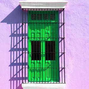 ¡Viva Mexico! Square Collection - Green Window in Campeche by Philippe Hugonnard