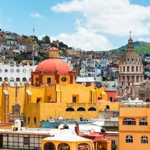 ¡Viva Mexico! Square Collection - Guanajuato Church Domes VI by Philippe Hugonnard