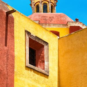 ¡Viva Mexico! Square Collection - Guanajuato Yellow Facades by Philippe Hugonnard