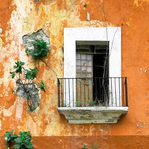 ¡Viva Mexico! Square Collection - Old Orange Facade by Philippe Hugonnard