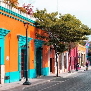 ¡Viva Mexico! Square Collection - Orange Facade in Oaxaca by Philippe Hugonnard