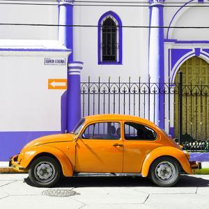 ¡Viva Mexico! Square Collection - Orange VW Beetle in San Cristobal by Philippe Hugonnard