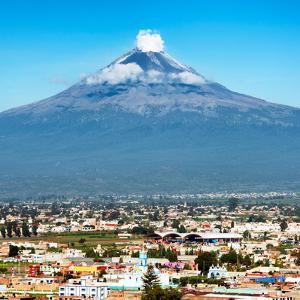 ¡Viva Mexico! Square Collection - Popocatepetl Volcano in Puebla III by Philippe Hugonnard