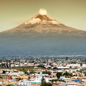 ¡Viva Mexico! Square Collection - Popocatepetl Volcano in Puebla IV by Philippe Hugonnard