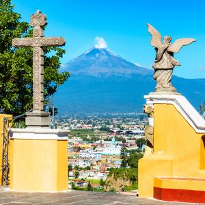 ¡Viva Mexico! Square Collection - Popocatepetl Volcano in Puebla VI by Philippe Hugonnard