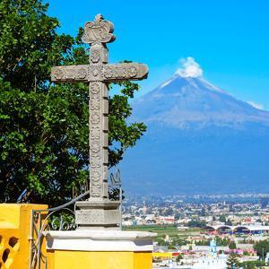 ¡Viva Mexico! Square Collection - Popocatepetl Volcano in Puebla VIII by Philippe Hugonnard