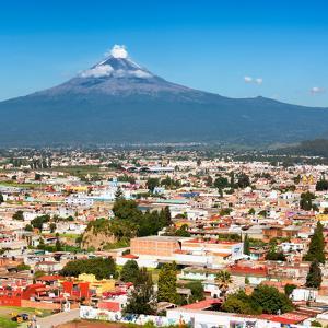¡Viva Mexico! Square Collection - Popocatepetl Volcano in Puebla by Philippe Hugonnard