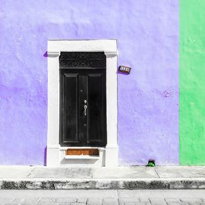 ¡Viva Mexico! Square Collection - Purple and Green Facade - Campeche by Philippe Hugonnard
