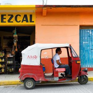 ¡Viva Mexico! Square Collection - Red Tuk Tuk by Philippe Hugonnard