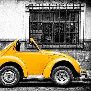 ¡Viva Mexico! Square Collection - Small Yellow VW Beetle Car by Philippe Hugonnard