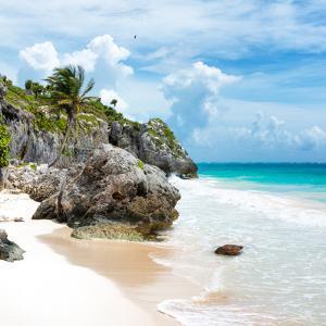 ¡Viva Mexico! Square Collection - Tulum Caribbean Coastline VII by Philippe Hugonnard