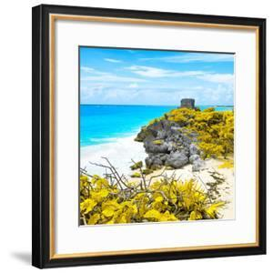 ¡Viva Mexico! Square Collection - Tulum Ruins along Caribbean Coastline V by Philippe Hugonnard