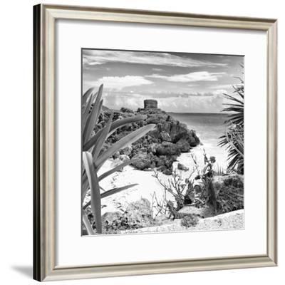 ¡Viva Mexico! Square Collection - Tulum Ruins along Caribbean Coastline with Iguana II
