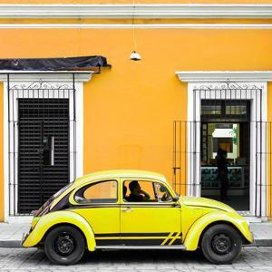 ¡Viva Mexico! Square Collection - VW Beetle Car - Gold & Yellow by Philippe Hugonnard