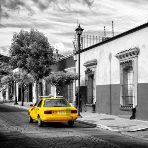 ¡Viva Mexico! Square Collection - Yellow Taxi in Oaxaca III by Philippe Hugonnard