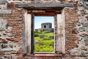 ¡Viva Mexico! Window View - Ancient Mayan Fortress in Tulum by Philippe Hugonnard
