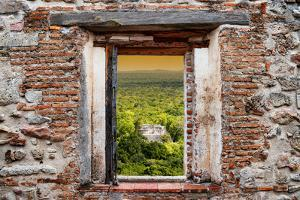 ¡Viva Mexico! Window View - Calakmul in the Mexican Jungle at Sunset by Philippe Hugonnard