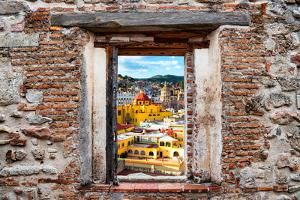 ¡Viva Mexico! Window View - Church Domes in Guanajuato by Philippe Hugonnard