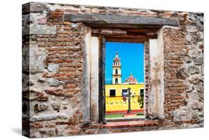 ¡Viva Mexico! Window View - Courtyard of a Church in Puebla by Philippe Hugonnard