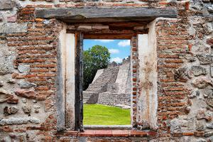 ¡Viva Mexico! Window View - Mayan Pyramid by Philippe Hugonnard