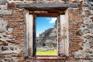 ¡Viva Mexico! Window View - Mayan Ruins in Edzna by Philippe Hugonnard