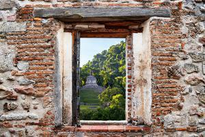 ¡Viva Mexico! Window View - Mayan Ruins in Palenque at Sunrise by Philippe Hugonnard