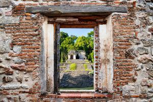 ¡Viva Mexico! Window View - Mayan Ruins in Palenque by Philippe Hugonnard