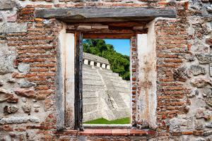 ¡Viva Mexico! Window View - Mayan Temple of Inscriptions in Palenque by Philippe Hugonnard