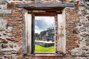 ¡Viva Mexico! Window View - One Thousand Mayan Columns in Chichen Itza by Philippe Hugonnard