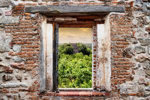 ¡Viva Mexico! Window View - Ruins of the ancient Mayan City of Calakmul by Philippe Hugonnard