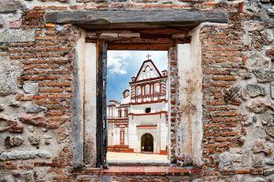 ¡Viva Mexico! Window View - White Mexican Church by Philippe Hugonnard