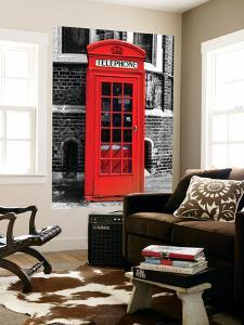 Wall Mural - Red Phone Booth in London with the Big Ben - City of London - UK - England by Philippe Hugonnard
