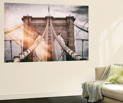 Wall Mural - The Brooklyn Bridge - Manhattan - New York - USA & Beautiful wall-murals artwork for sale Posters and Prints   The NEW ...