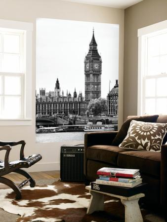 Wall Mural - The Houses of Parliament and Big Ben - Hungerford Bridge and River Thames - London by Philippe Hugonnard