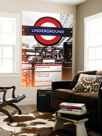 Wall Mural - The Underground - Subway Station Sign - London - UK - England