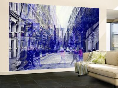 Wall Mural - Urban Vibration Series - Soho and 1WTC - Manhattan - New York - USA