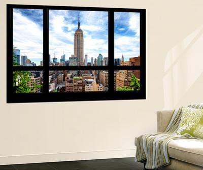 Wall Mural - Window View - Manhattan Cityscape with the Empire State Building - New York