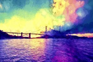 Watercolor Golden Gate Bridge by Philippe Hugonnard