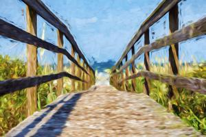 Way to the Beach II - In the Style of Oil Painting by Philippe Hugonnard