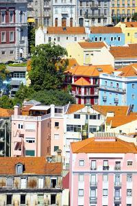 Welcome to Portugal Collection - Colorful Buildings in Lisbon III by Philippe Hugonnard