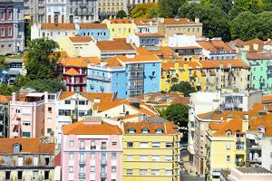 Welcome to Portugal Collection - Colorful Buildings in Lisbon by Philippe Hugonnard