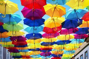 Welcome to Portugal Collection - Colourful Umbrellas III by Philippe Hugonnard