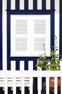 Welcome to Portugal Collection - House Facade with Midnight Blue Stripes by Philippe Hugonnard
