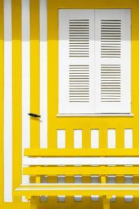 Welcome to Portugal Collection - House facade with Yellow and White Stripes by Philippe Hugonnard