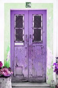 Welcome to Portugal Collection - Old Purple Front Door by Philippe Hugonnard